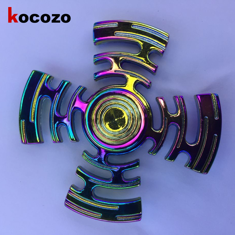 Four Angles Hand Spinner Rotation Long Time Fashion Colorful Fidget Spinner Gyro 2017 New Arrival EDC