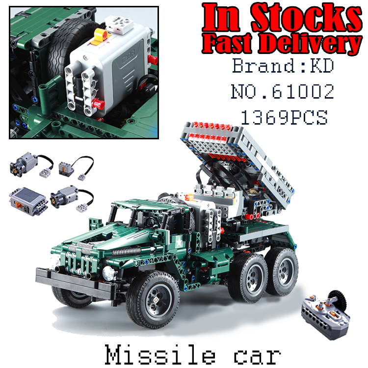 61002 1369Pcs Military Weapons The RC BM-21 Rocket Launcher Building Blocks BricksToys For children christmas Gifts brinquedos pvc building blocks army field combat military escort weapons