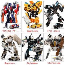 Transformación 4 Optimus Pe coches abejorro Brinquedos Robots figuras de acción juguetes clásicos para niños para niños juguetes para los regalos juguete