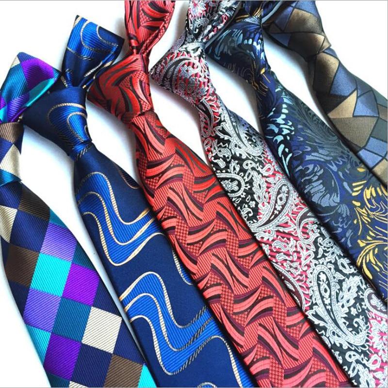 RBOCOTT Novelty Irregular Pattern Neck Ties For Men 8cm Floral Tie Plaid Necktie For Business Wedding Party Men's Corbatas