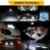 8 x Car 5630 LED SMD Lâmpada LED Kit Pacote Interior Branco cúpula Mapa Luva Caixa de Luz Da Placa de Licença Para Chrysler 300C 300 2005-2010
