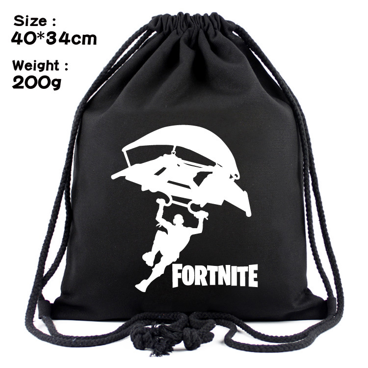 High Quality Fortnite 3D Printing Schoolbags Pattern Drawstring Bag Travel Softback Backbags Game Fortnite Kids Figures Gift Bag