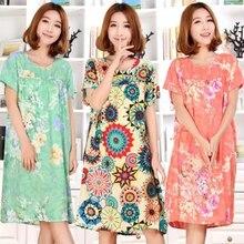 Hot New Summer Women Flower Nightgown Dot Sleepwear Night Wear Sleeveless Sleepshirt Sleepdress Nightgown Lingerie PA-5765