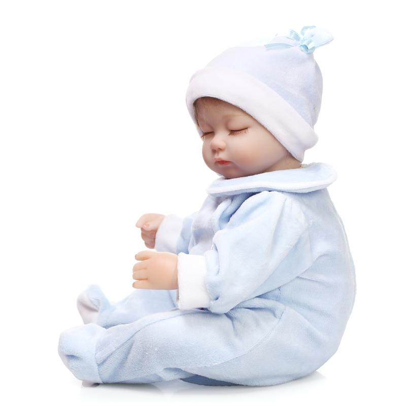 NPK COLLECTION 40cm Silicone Reborn Baby Doll Toy Real Touch Cotton Body Sleeping Newborn Girls Doll Kids Child Birthday Gifts