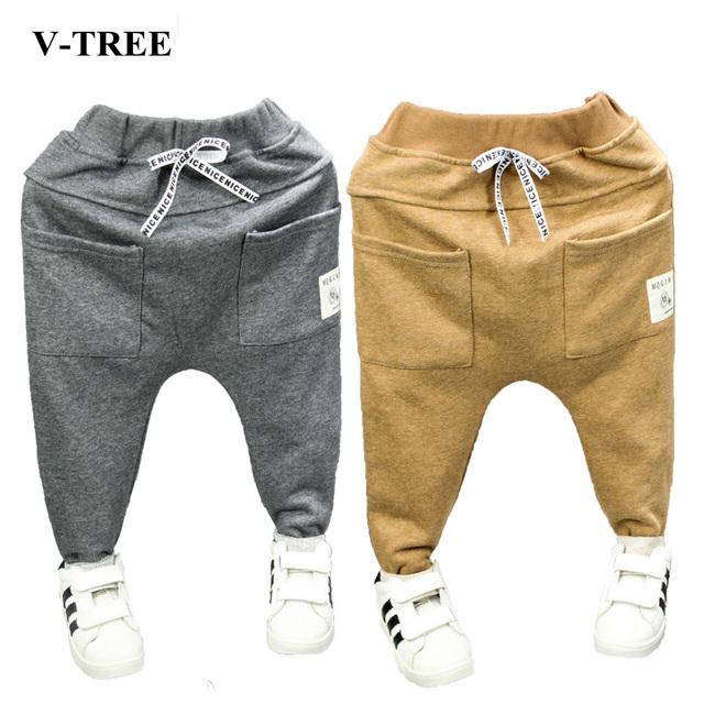 Moda coreano Calças Crianças Para O Ano Novo Primavera E Outono Harlan calças Do Bebê Meninos Calças Para O Bebê Meninas Roupas Casuais Harem Pants