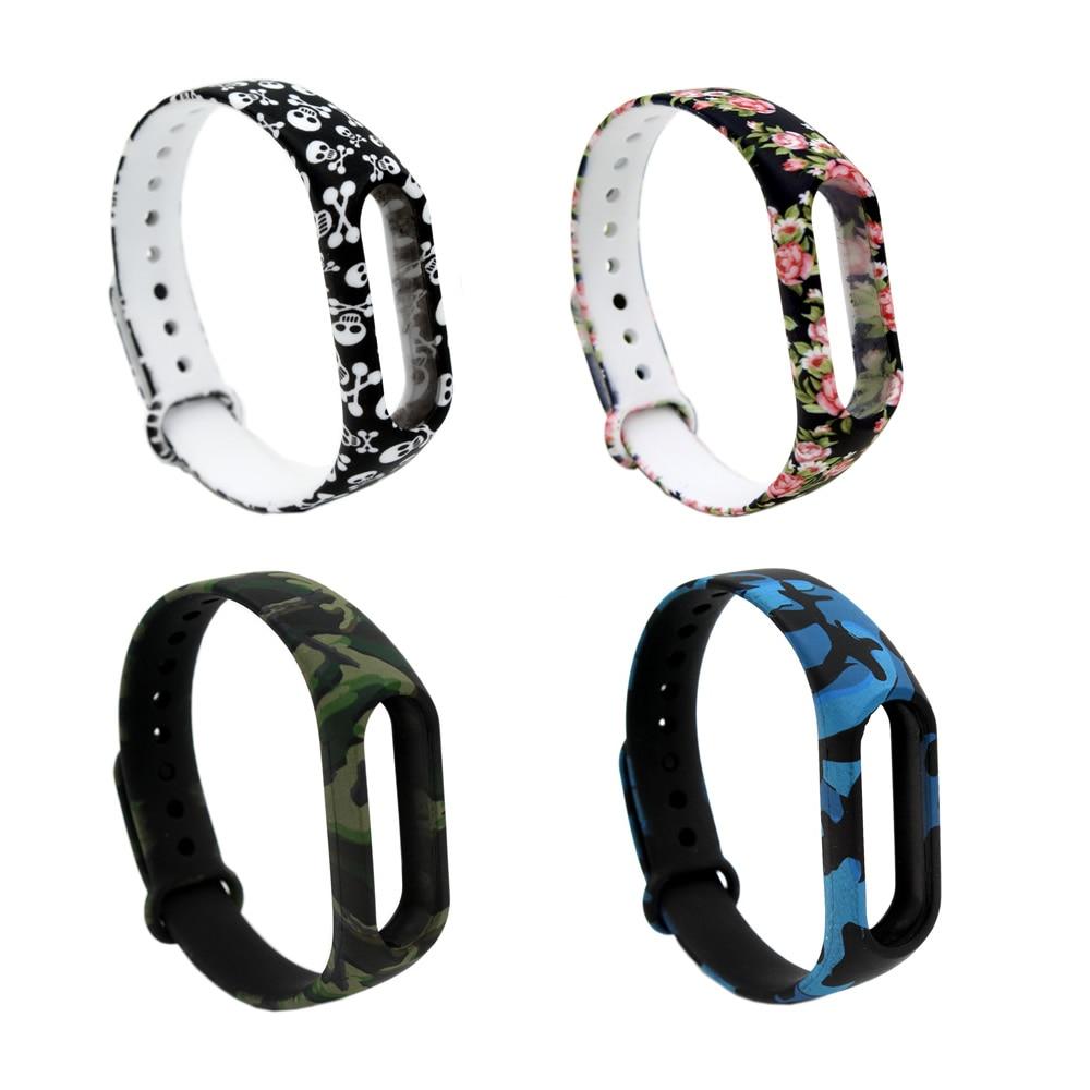 PINHEN Xiaomi Mi Band 2 Bracelet Strap Miband 2 Colorful Wristband Silicone Replacement Accessories For Xiaomi Mi Band 2 tearoke colorful silicone strap for xiaomi mi band miband 1 1s bracelet replacement wristband band accessories reemplazo pulsera