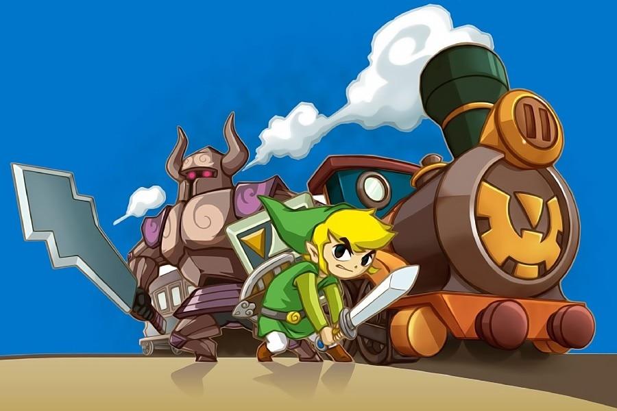 ᑐDIY marco la leyenda de Zelda: Spirit tracks Train juego arte seda ...