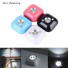 MINI Motion Sensor Night Light Wireless Portable Wall Lamp Power By Battery For Cabinet Home Toilet Bedroom Lighting Small Lamps cheap GRN-FLASHING FX-1L-AAA-XYD Night Lights LED Bulbs Dry Battery Emergency 0-5W ROHS white white black blue red about 70g 20 seconds