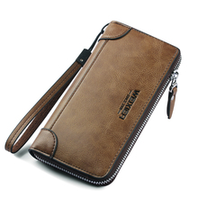 New Arrival Men Wallets pu Leather Long Clutch Zipper Wallets for Business Men Clutch Large Capacity High Quality Wallet