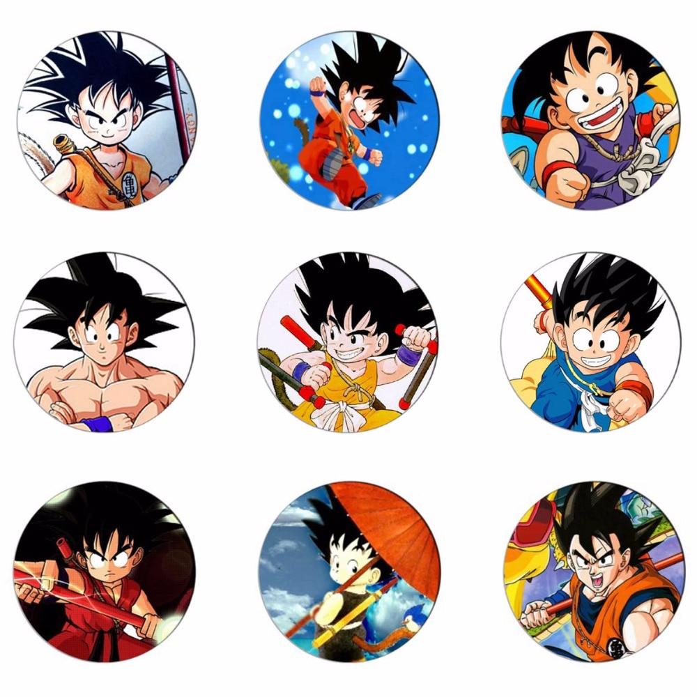 Dragon Ball Super Z Goku Black /& Super Saiyan Rose Metal Pins Set of 2 Official