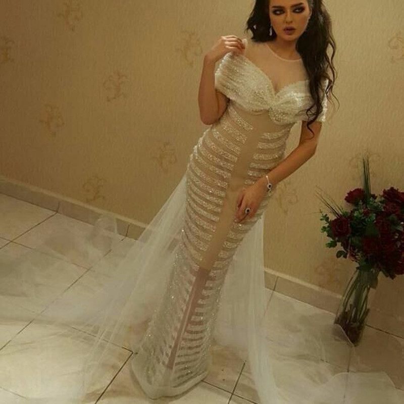 Off The Shoulder Prom Gown Tulle Beading Formal Wedding Party Dress