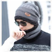 2017 winter burst knitted hat men s autumn and winter models two piece ladies hats cap
