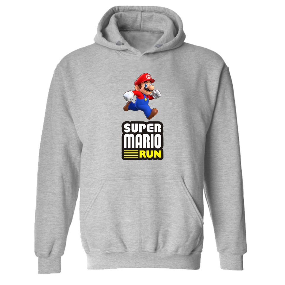 Super MarioRun Black Hooded XXXL Hoodies in 4XL Winter Warm Game Super Mario Mens Hoodies and Sweatshirts Set for Autumn