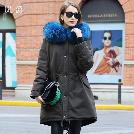 2016 new hot winter Thicken Warm woman Down jacket Coat Parkas Outerwear Hooded Raccoon Fur collar Slim long plus size Loose цены онлайн