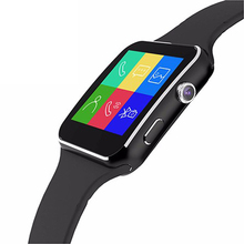 X6 Bluetooth Smart Watch Android Smartwatch HD Curved Display Sync Facebook Whatsapp Message Support Sim TF