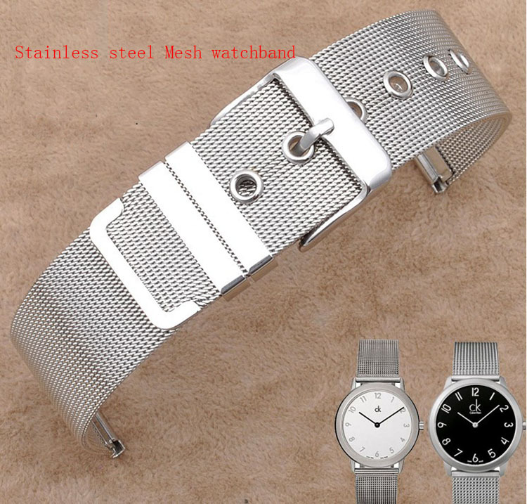 12mm 14mm 16mm 18mm 20mm 22mm 26mm Watchband stainless steel mesh thin for quartz watches Bracelets for Hours clock Promotion цена
