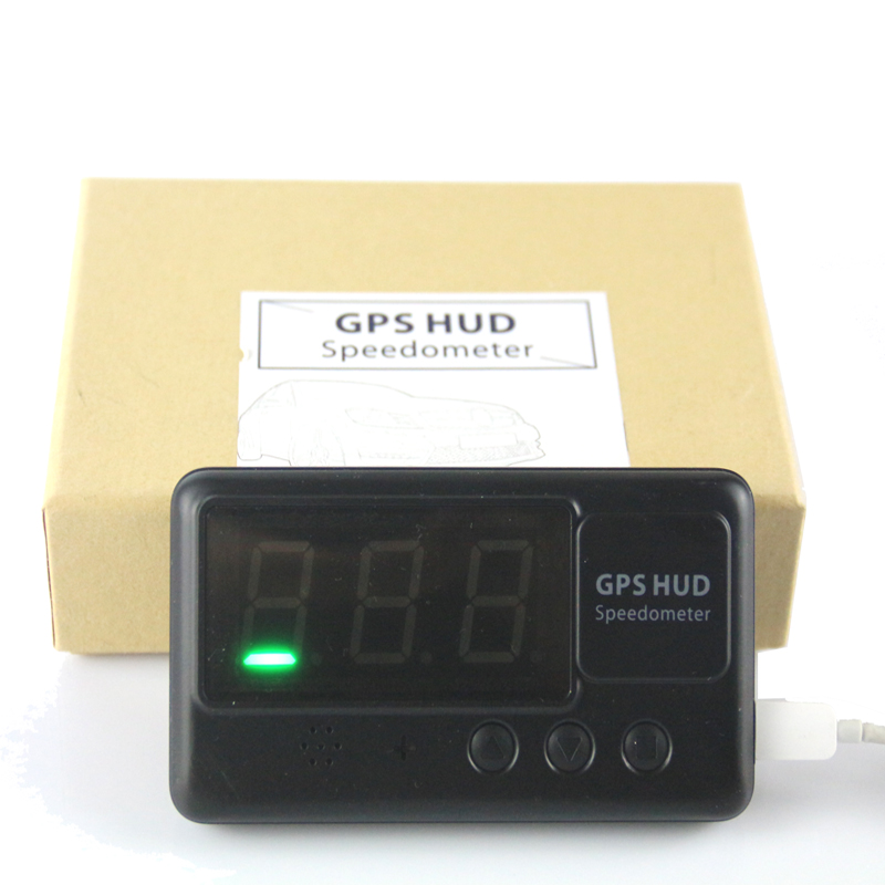 C60 универсален HUD Спидометър Превишена скорост Аларма Автомобил GPS Hud Head Up Дисплей проектира скоростта на автомобила на предното стъкло