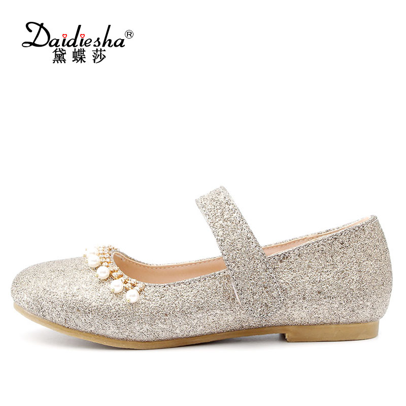 Daidiesha Vintage Mary Janes Women Flats Round Toe Soft Outsole Ballerina Flat Heel Shoes Bling Pearl Prom Ladies Flat Footwear vintage embroidery women flats chinese floral canvas embroidered shoes national old beijing cloth single dance soft flats