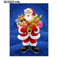 Christmas Diamond Painting Rhinestones 3D DIY Full Sale Diamond Embroidery Santa Claus Presents Gifts Cross Stitch