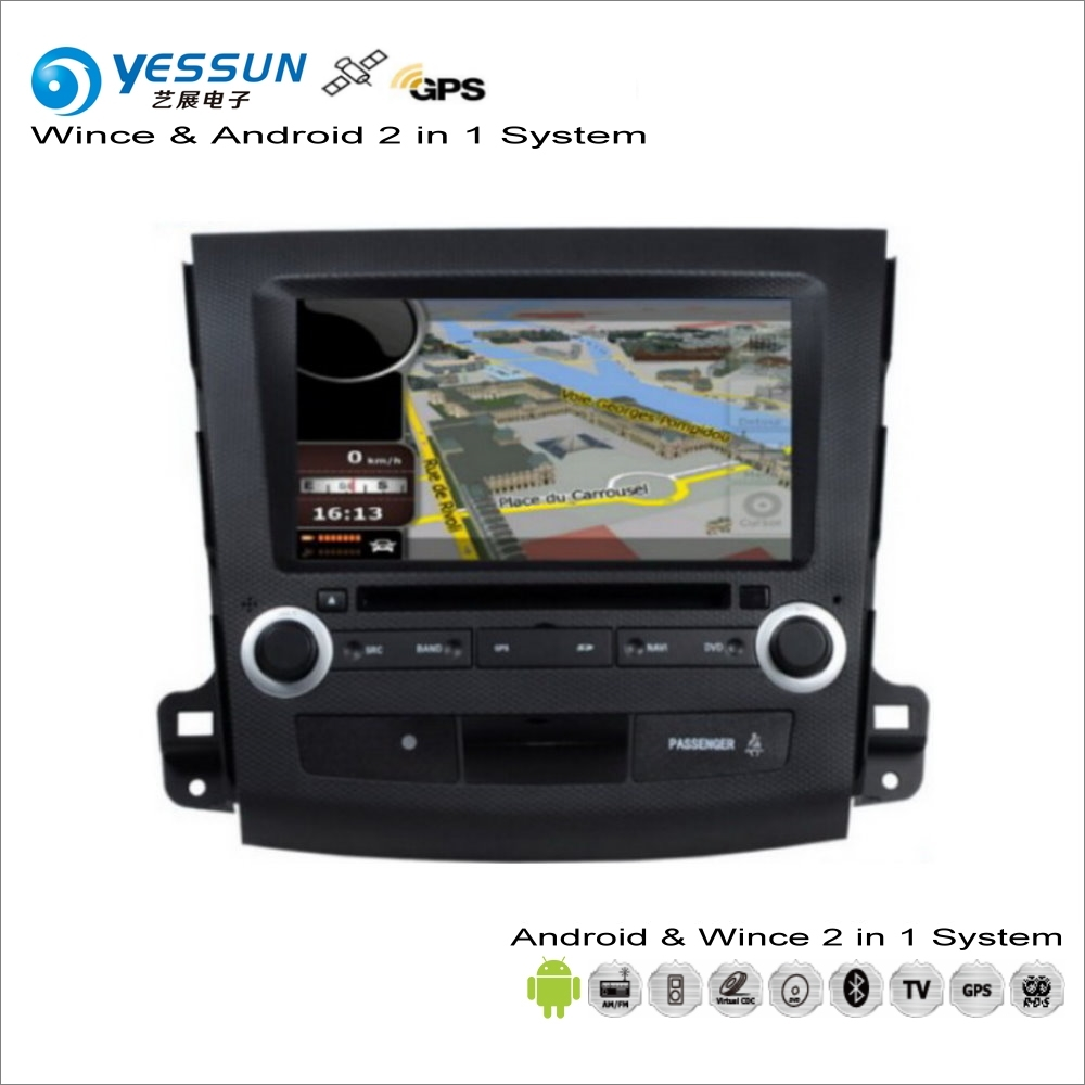 YESSUN For Citroen C-Crosser / For Peugeot 4007 / For Mitsubishi Outlander Car Radio CD DVD Player GPS Navigation Android System