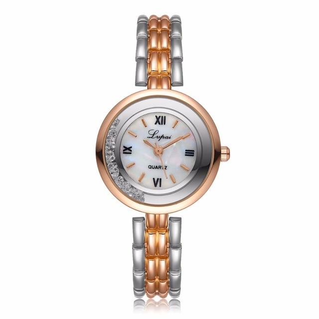 Lvpai Luxury Women Watches Bracelet Watch Ladies Fashion Crystal Dress Wristwatc