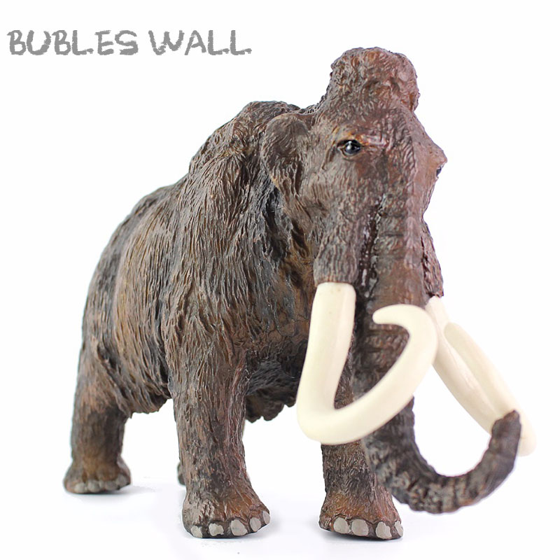 Woolly Elephant Mammoth Children Toys Simulation Model Educational Props