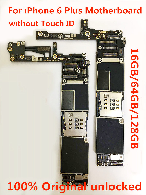 H-shirley 100% Unlocked 6 Plus Motherboard Without Touch ID For Iphone 6Plus 16GB