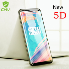 CHYI 5D Curved Glass For Oneplus 5T Screen Protector Full Cover Round Edge For One Plus 5T Tempered Glass 1+5t Better than 4D 3D