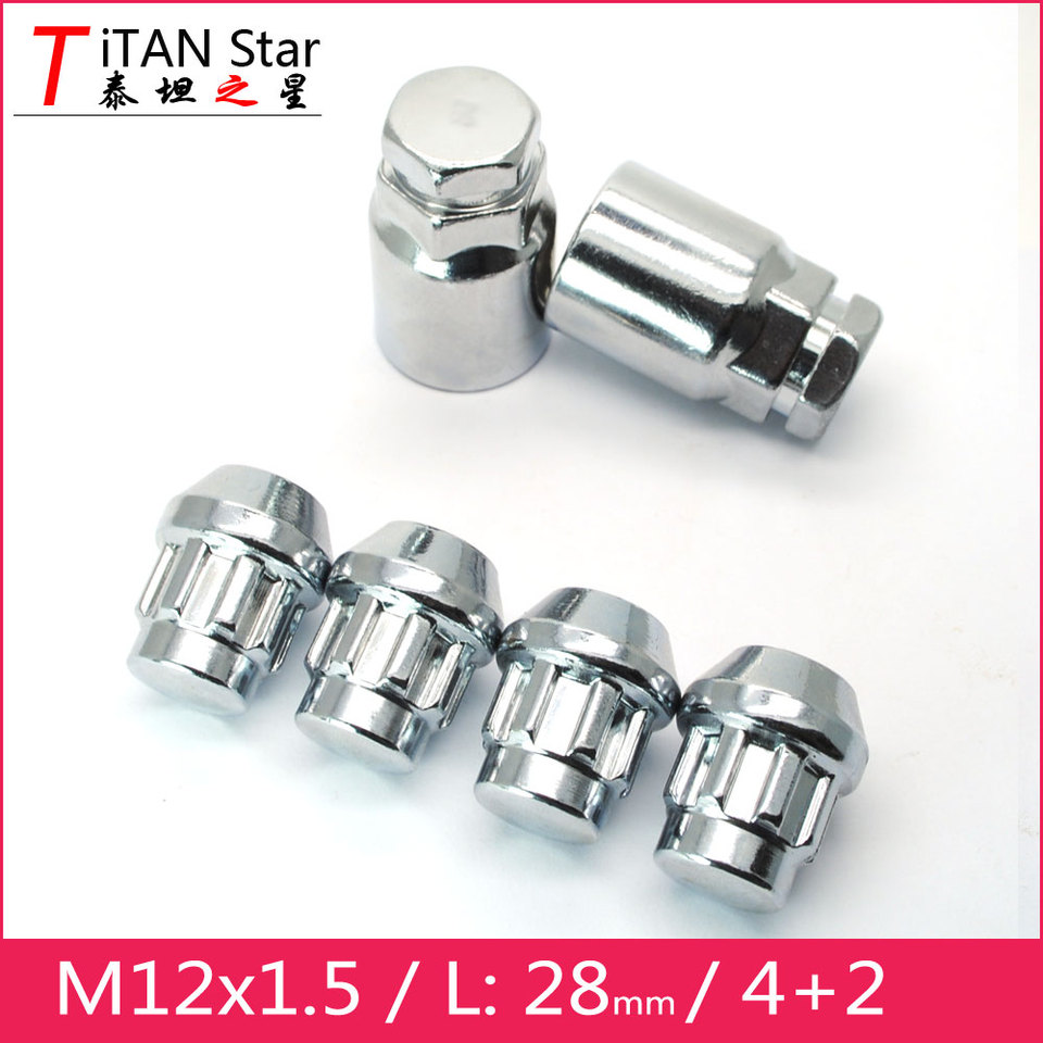 Butzi 1//2 UNF Chrome Anti Theft Locking Wheel Bolt Nuts /& 2 Keys to fit XKR all years