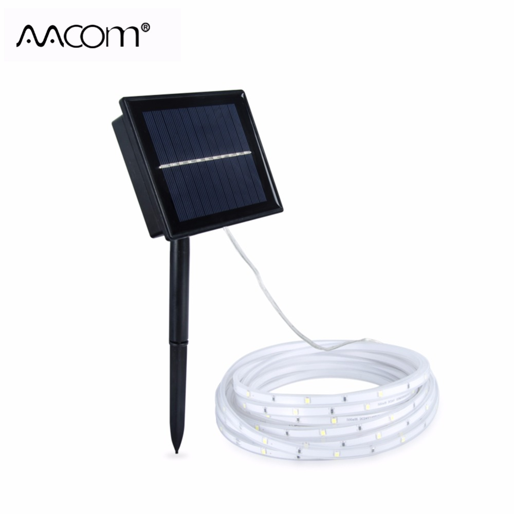 RGB LED Solar Strip Lawn Light 5M IP68 Waterproof 2Modes High Quality SMD 2835 Chip Solar LED Diode Ribbon For Outdoor Decor