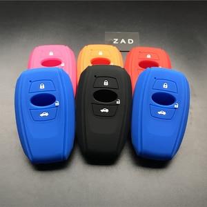 ZAD silicone rubber car key case cover shell for subaru Legacy impreza forester xv trezia BRZ wrx levorg outback 3 buttons key