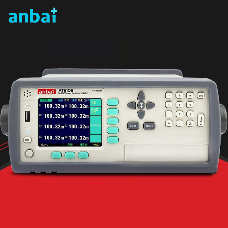 8 Channels Resistance Meter Scan Measurement Multi channel Resistance Tester AT5108 With Temperature Compensation Function