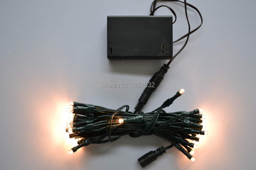 free shipping 3m 30 led extendable battery light string battery box type 3aa 05 - Lead Free Christmas Lights