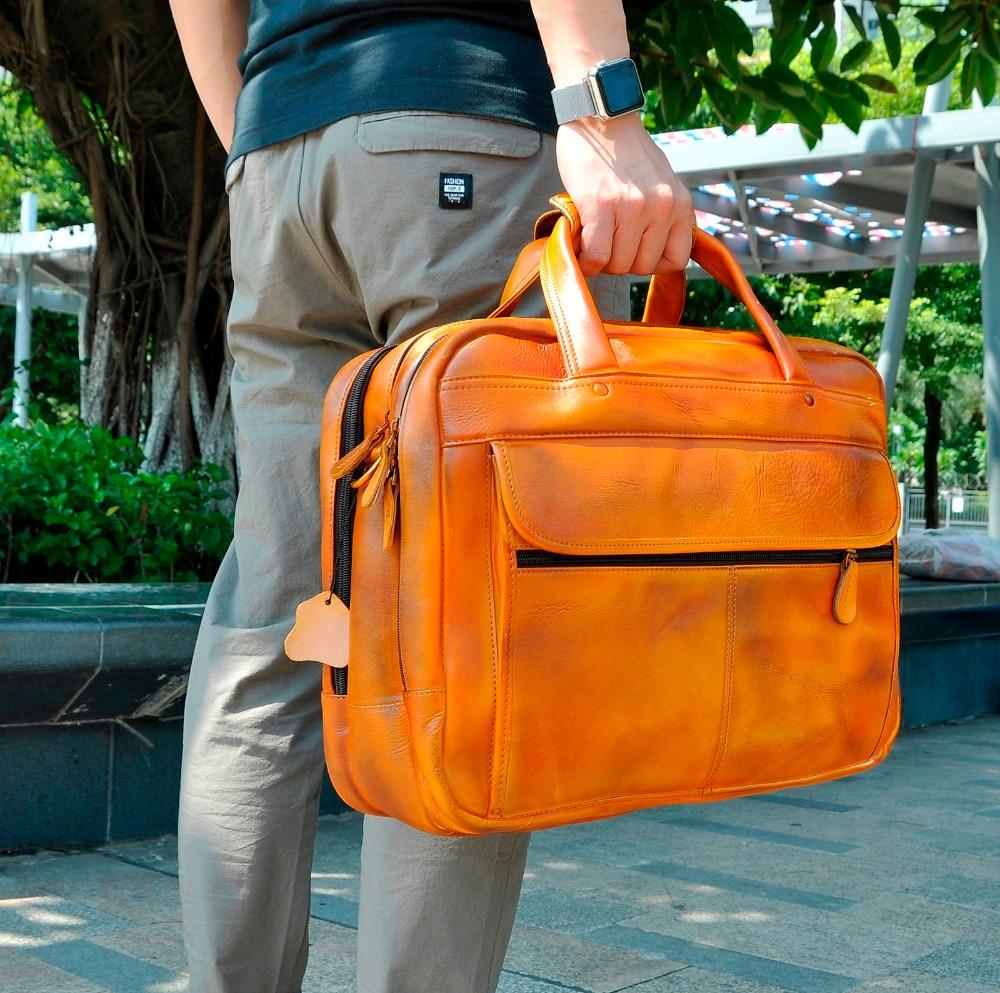 HTB14d0fXcvrK1Rjy0Feq6ATmVXaq Men Oil Waxy Leather Antique Design Business Briefcase Laptop Document Case Fashion Attache Messenger Bag Tote Portfolio 7146
