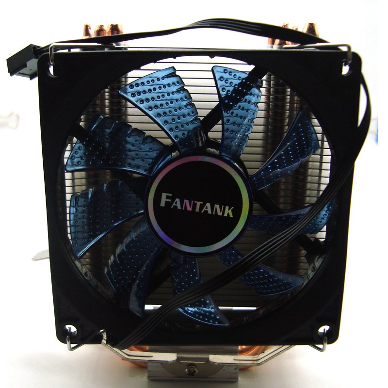 4 Heatpipes <font><b>CPU</b></font> cooler for AMD Intel <font><b>775</b></font> 1150 1151 1155 1156 1366 <font><b>CPU</b></font> radiator 90mm 4pin cooling LED <font><b>fan</b></font> PC quiet image