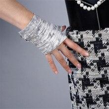 Latest Real Leather Fingerless Gloves White Lizard Skin Animal Pattern Pure Sheepskin Half Finger Short Woman Gloves TB130