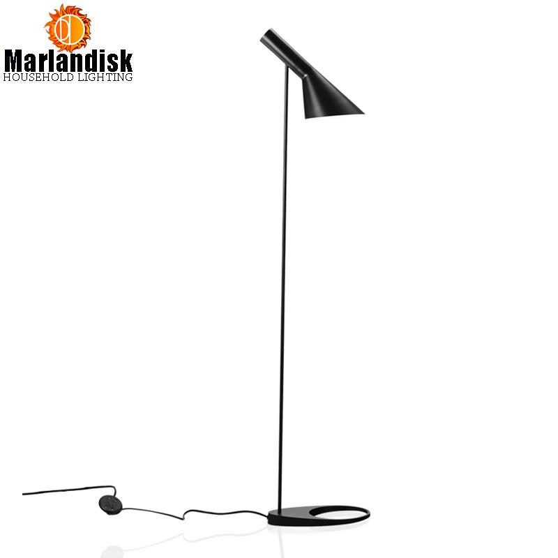 Пост-современный demmark дизайн AJ торшеры стоят фонари E27 светодио дный металлический пол свет для Гостиная Спальня светильники (FD-50)