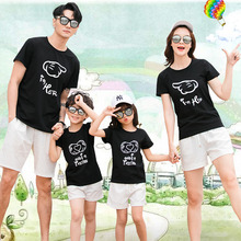 2020 Summer Style Family Clothing Mother Daughter Clothes T-shirt Short Pants  Family Matching Outfits Father Son Clothes Set family look clothing 2020 summer mother daughter dress family matching outfits father son t shirt short pants clothes set