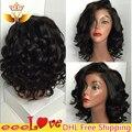 Unprocessed Brazilian Virgin Hair Wig,Bob Wavy Short Human Hair Lace Wigs Glueless Full lace Human Hair Wig For Black Women
