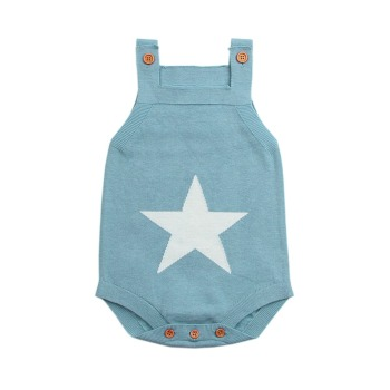 Summer Sleeveless Bodysuits Newborn - Knitted Star
