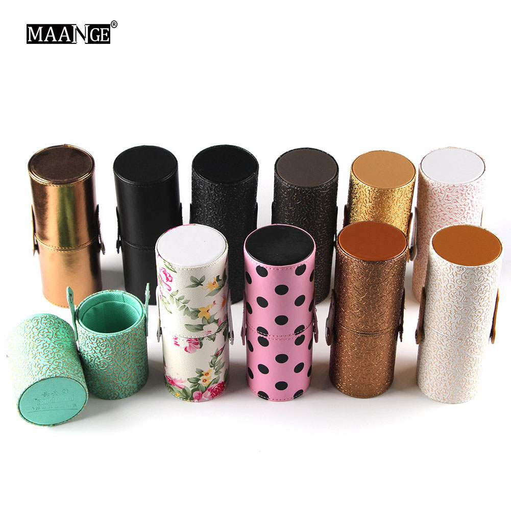 10Style PU Leather Makeup Brush Empty Holder Box Case Durable Travel Storage Tube Container Salon Cosmetic Brushes Display Stand travel container set
