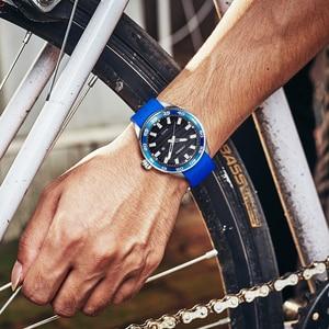 Image 5 - SINOBI 316 Stainless Steel Mens Sports Watches Luxury Brand Silicone Waterproof Men Military Watch Quartz Relogio Masculino