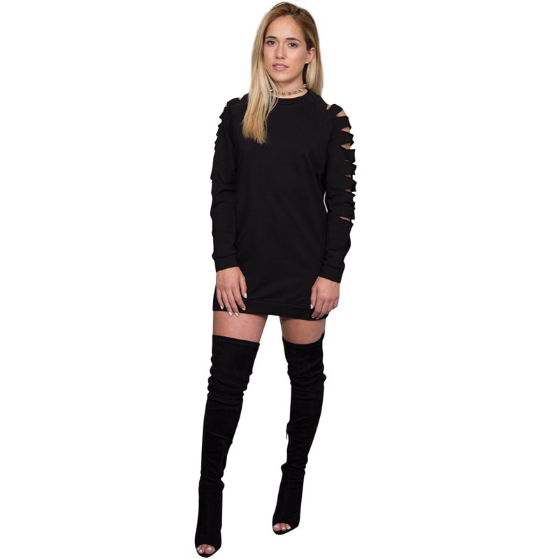 Black dress knee high boots size