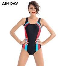 Brand Professional Sports Swimsuit Women One Piece High Quality Athlete Large Size Swimwear Monokini Slim Bathing Suit  Women