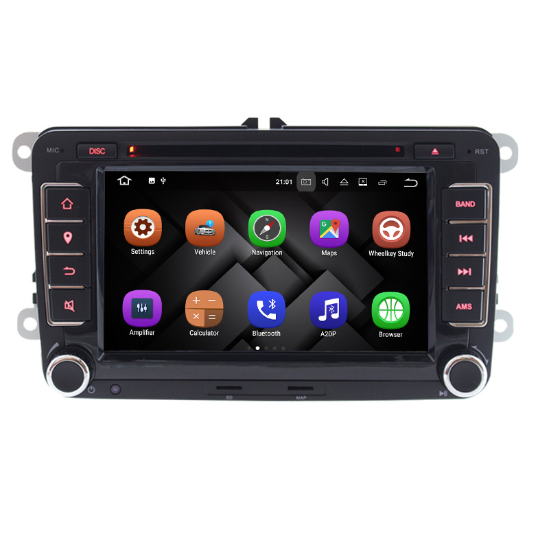 "imágenes para 7 ""2 Din Android 7.1 DVD Del Coche GPS CD Player para VW Asiento Skoda Fabia Octavia Roomster Superb Yeti 2006 2007 2008 2009 2010 2011"