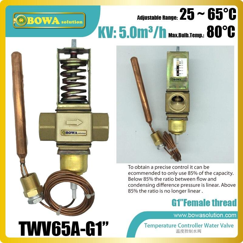 Водяные клапаны с температурным управлением с BSP 1G соединением, используются в гидридной системе для сохранения температуры клеммы