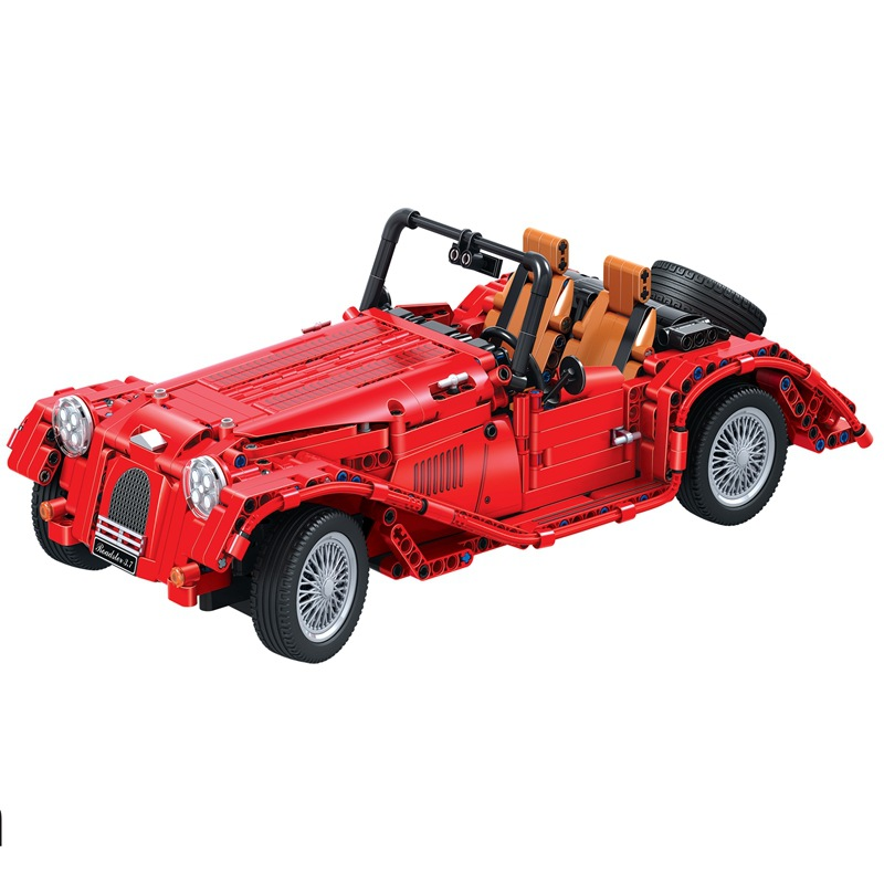 Technic red convertible car building blocks DIY Educational bricks toys for children Christmas Gift solar electronic building blocks children s electrical science and education diy toys christmas gift