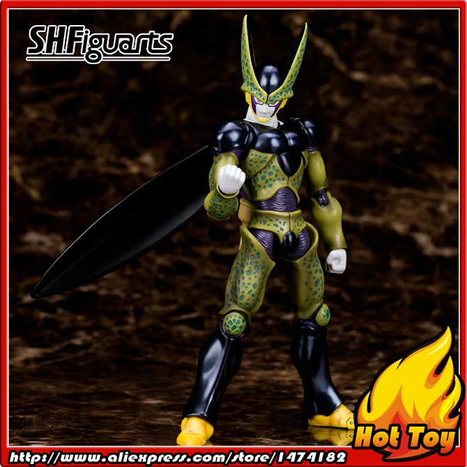 100% Original BANDAI Tamashii Nations S.H.Figuarts (SHF) Exclusive Action Figure - Perfect Cell from Dragon Ball Z cmt original bandai tamashii nations s h figuarts shf dragon ball db kid son gokou action figure anime figure pvc toys figure