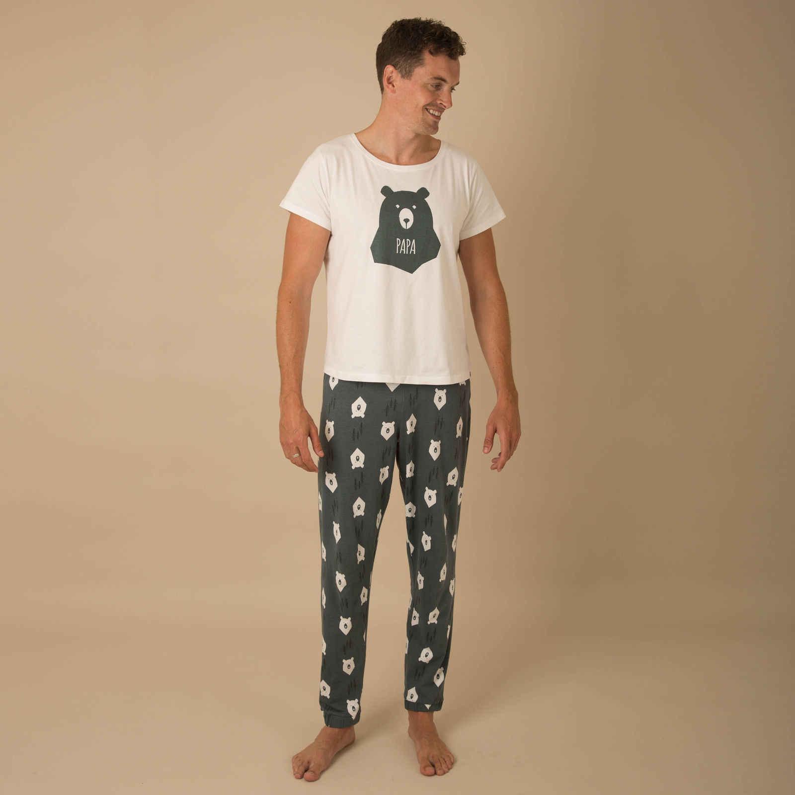... Winter Warm Christmas Bear Printing Pyjamas Matching Family PJs  Nightwear Adult Mum Dad Kid ... 465859141