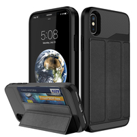 For Apple IPhone X Car Holder Case Hybrid Armor PU Leather For IPhonex Coque IPhone X